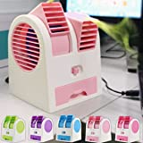 Param Plastic Water Air Cooler Mini Fan(Multicolour,12x13x12cm)