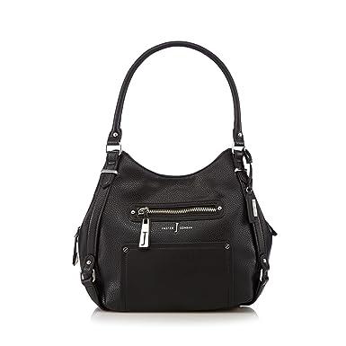 J By Jasper Conran Womens Designer Black Zipped Pocket Hobo Bag: J ...
