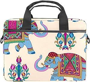 Mandala Elephants Laptop Shoulder Messenger Bag 15 inch Case Sleeve for 14 Inch Laptop Case Laptop Briefcase Compatible Notebook