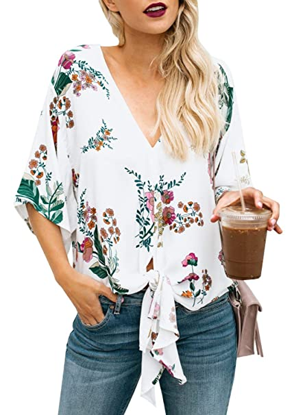 Mujer Blusas Elegante Moda Informales Túnica Hipster Camisas Primavera Otoño Basic Colores Sólidos Manga Larga V
