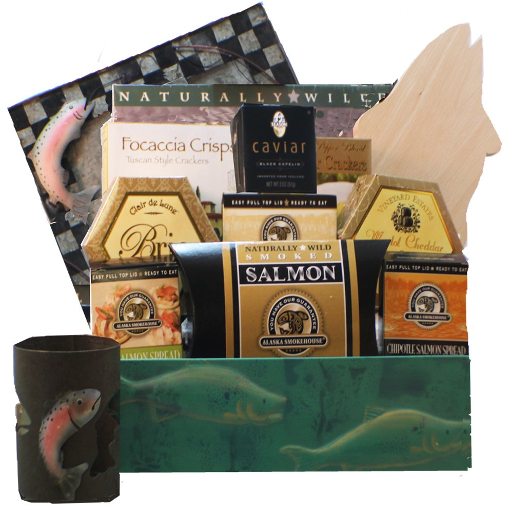 Bounty of the Sea Seafood and Smoked Salmon Gift Basket