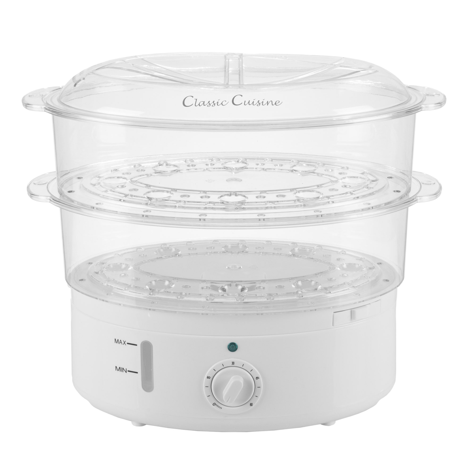 Vegetable Steamer Rice Cooker- 6.3 Quart Electric Steam Appliance with Timer for Healthy Fish, Eggs, Vegetables, Rice, Baby Food by Classic Cuisine