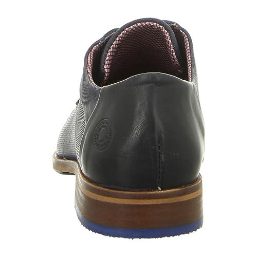 Bullboxer 699k26303ap656 - Chaussures À Lacets En Cuir Lisse Pour Les Hommes, Bleu, Taille 43 Eu