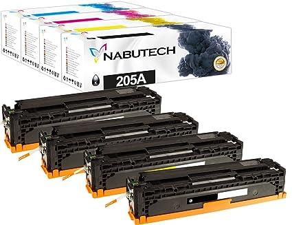 4 Original nabutech Toner como repuesto para HP 205 A cf530 a ...