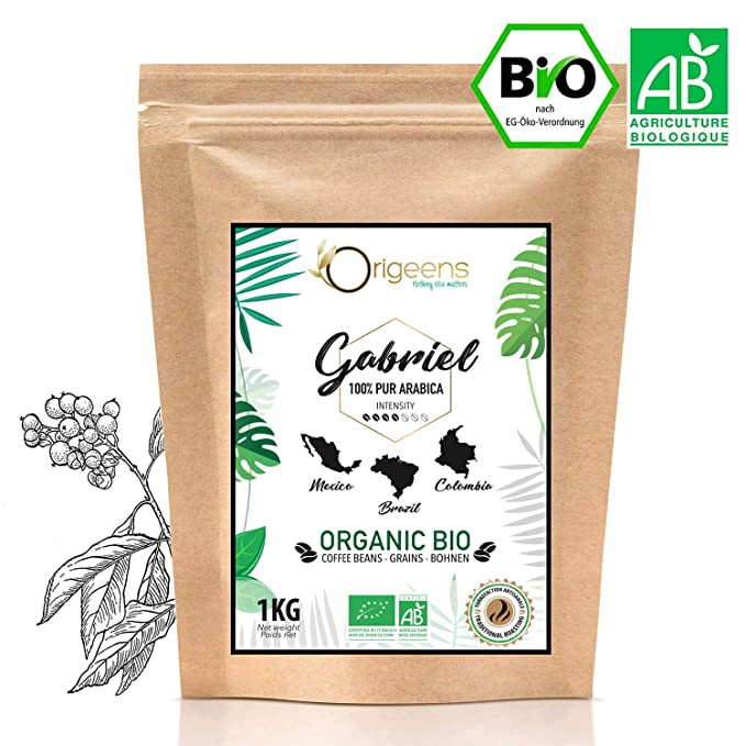 ☘️ Café en Grano Natural 1kg | Cafe Grano Arabica Ecológico ...