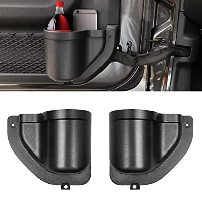 INSAUTO JL Door Pocket Front Door Storage Side Pockets for Jeep Wrangler JL JLU 2020 2020 2020,Organizer Grab Tray Only for Front Door Pocket Replacement Interior Accessories: Automotive