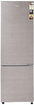 Haier 276 L 3 Star Frost Free Double Door Refrigerator(HEB-27TDS, Dazzle Steel/Brushline silver, Convertible, Bottom Freezer)