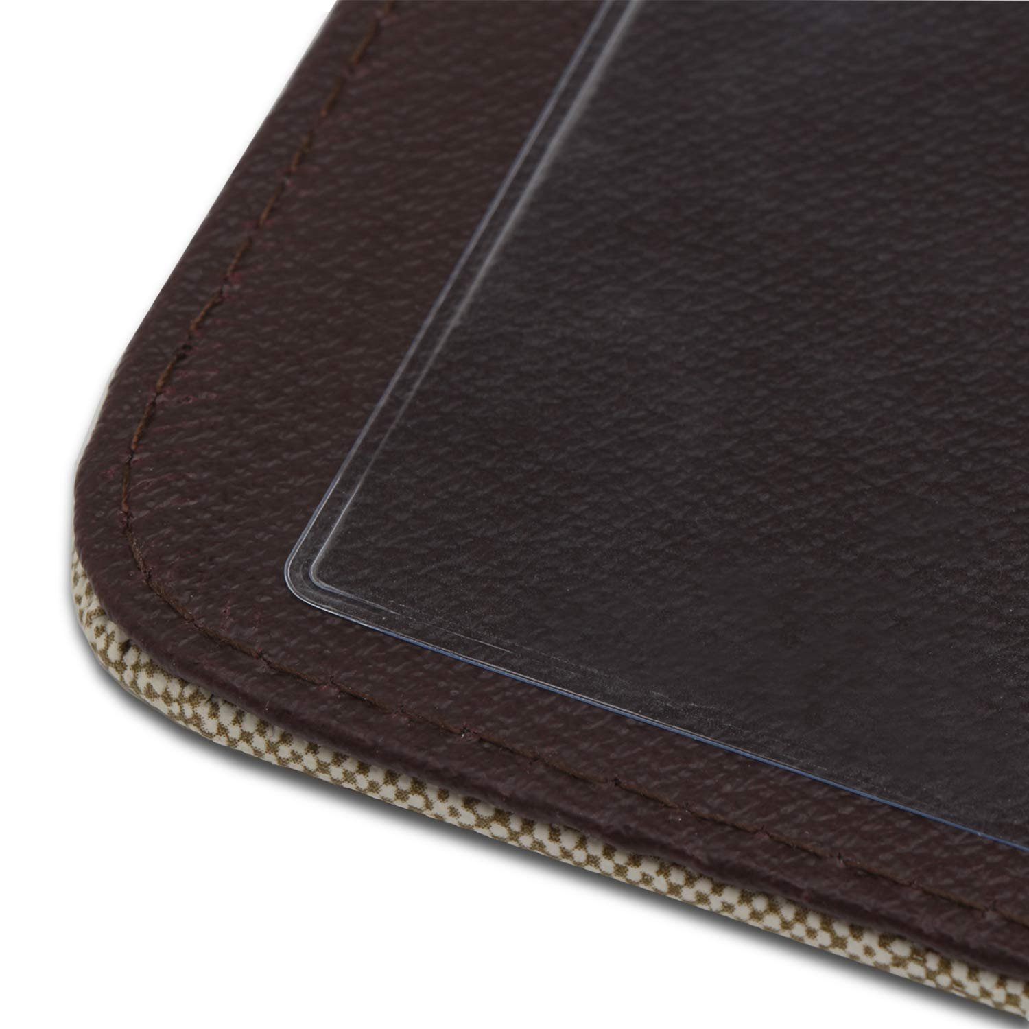 4 Pack Segarty Leather Menu Holders with 8 Insert Pages Menu Covers Table Menu Cover for Restaurants Bistros Diners Drinks and Cafeterias Double Views Cafes 8.5x12 Inch