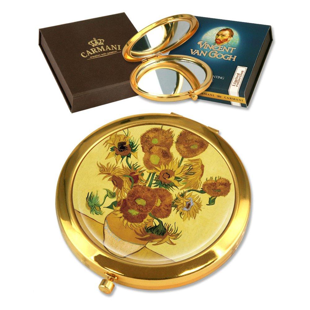 Carmani - Specchio in oro placcato con Van Gogh copia pittura