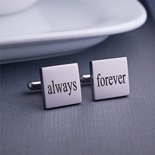Amazon Always And Forever Cufflinks Wedding Gift For Husband Birthday Boyfriend Anniversary Him Cuff Links Handmade
