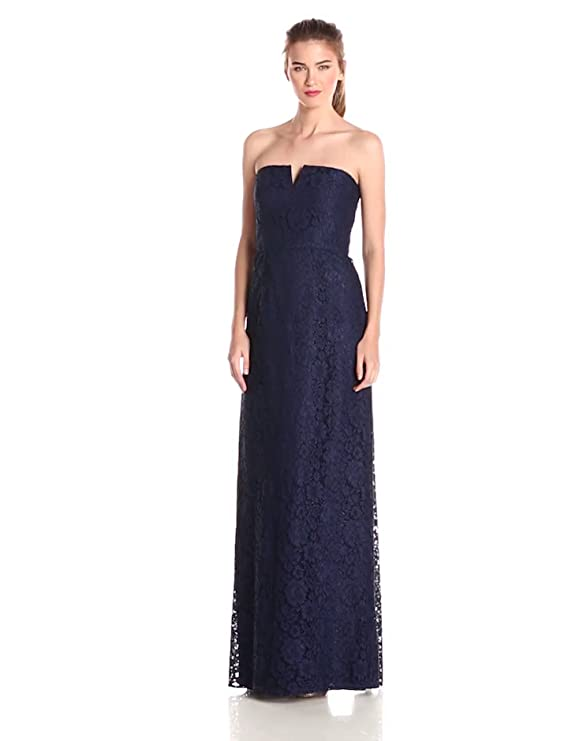 Amazon.com: Donna Morgan Womens Reese Strapless Lace Column Gown: Clothing