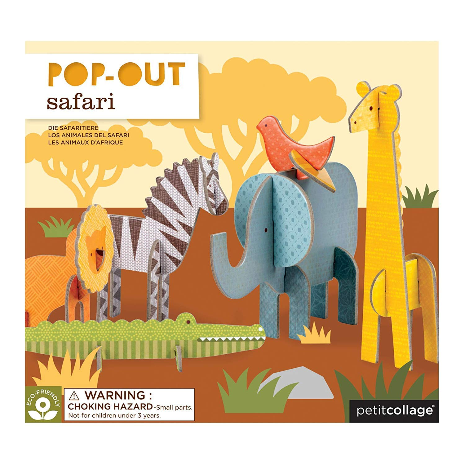 Petit Collage Safari Pop Out /& Play