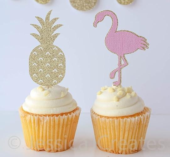 Flamingo Cupcake Picks Birthday Wikii