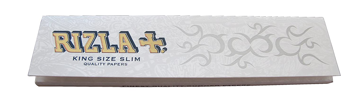 * * New * * 10 x RIZLA White Kingsize Ultra Thin + Ultra Slow Burning Top quality Papers by Rizla