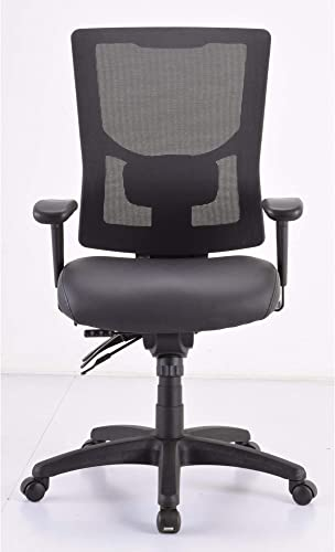 Lorell Mid/High-Back Padded Leather Chair Seat