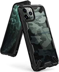 Ringke Fusion X Design Case Made to Fit iPhone 11 Pro Max (2019) Military Grade Drop Protection Phone Case Suitable for Men and Women - Camo Black