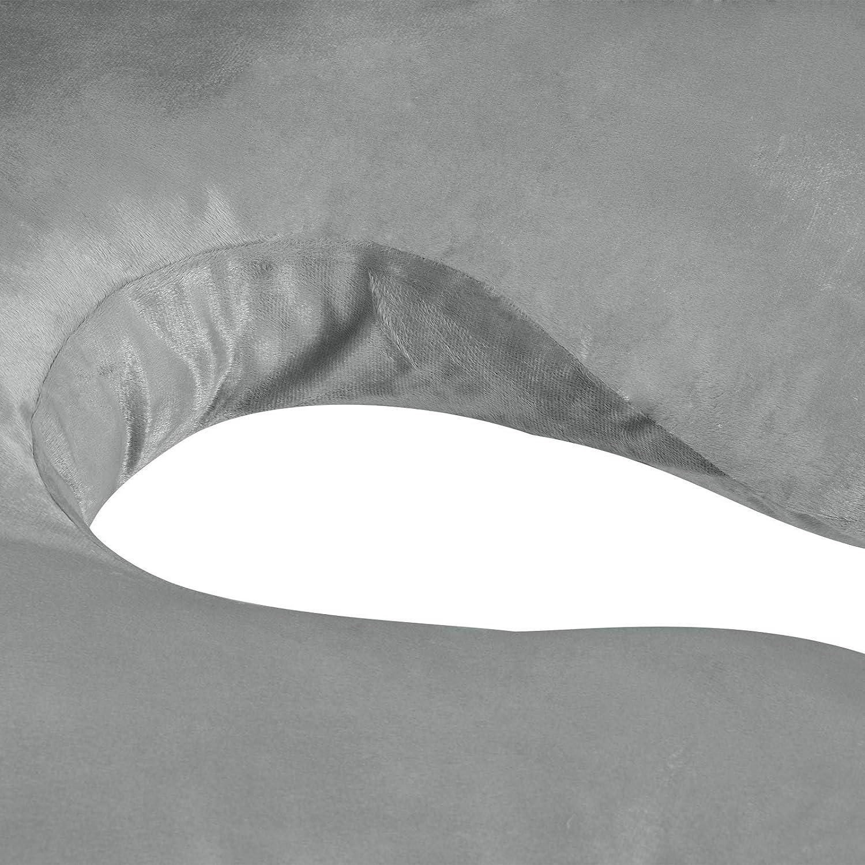 C Form Woltu Almohada de Maternidad//Embarazo Almohada Lateral Coj/ín de Lactancia SKN040gr Almohada de Cuerpo Algod/ón 100/% 140x76cm