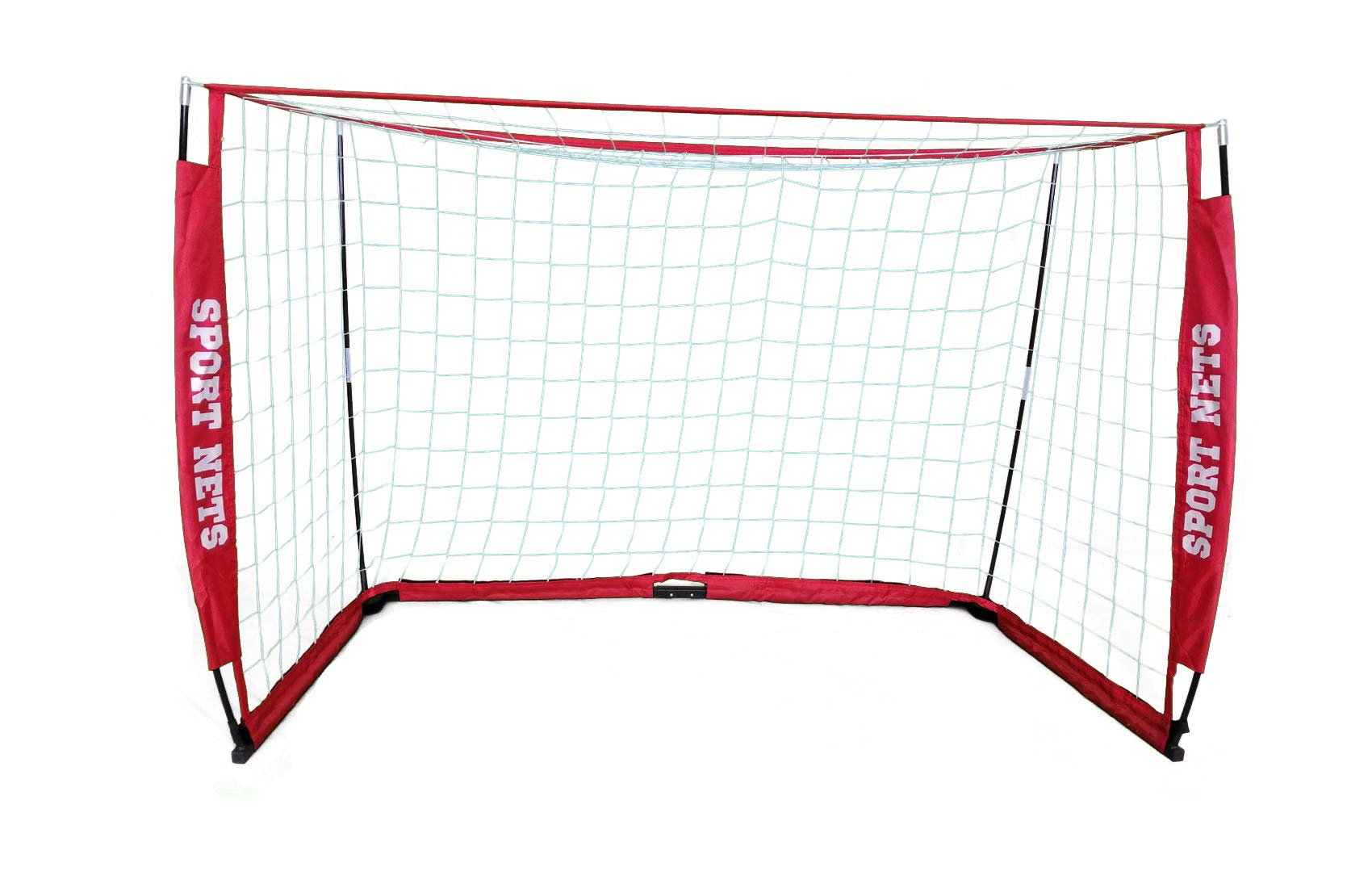 Sport Nets Portable Soccer Goal - Portable Bow Frame Soccer Net with Carry Bag - Sizes 4' X 6' - 4' X 8' - 6' X 12' (7 X 14 Soccer Goal) by Sport Nets