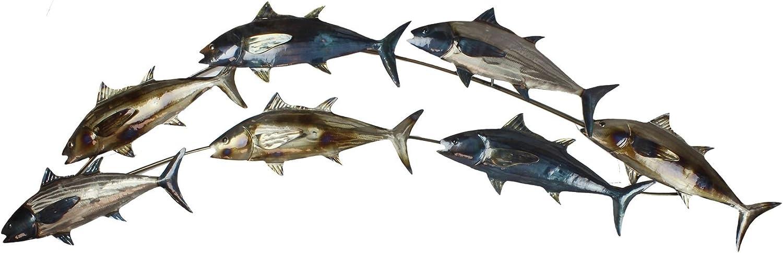Widdop Country Living Metal Wall Art Shoal Of Fish Amazon Co Uk Kitchen Home