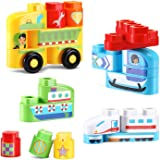 LeapFrog LeapBuilders Soar and Zoom Vehicles, Multicolor