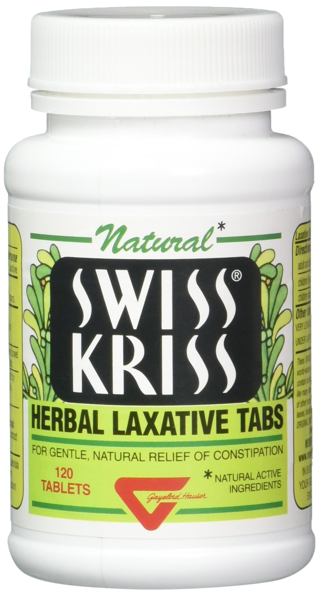 Swiss Kriss Herbal Laxative Tablets, 120 Count