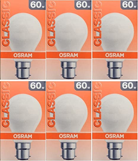 60 WATT PEARL LIGHT BULB BAYONET CAP