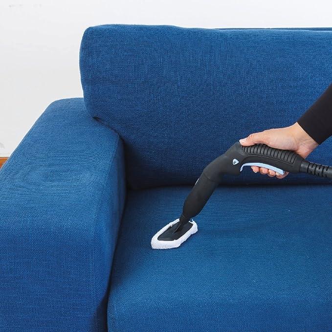 Ariete 4146 Limpiadora de Vapor, 5 Bars de Presión, Potencia 1500 W, Autonomía 55 min., color blanco y detalles en azul