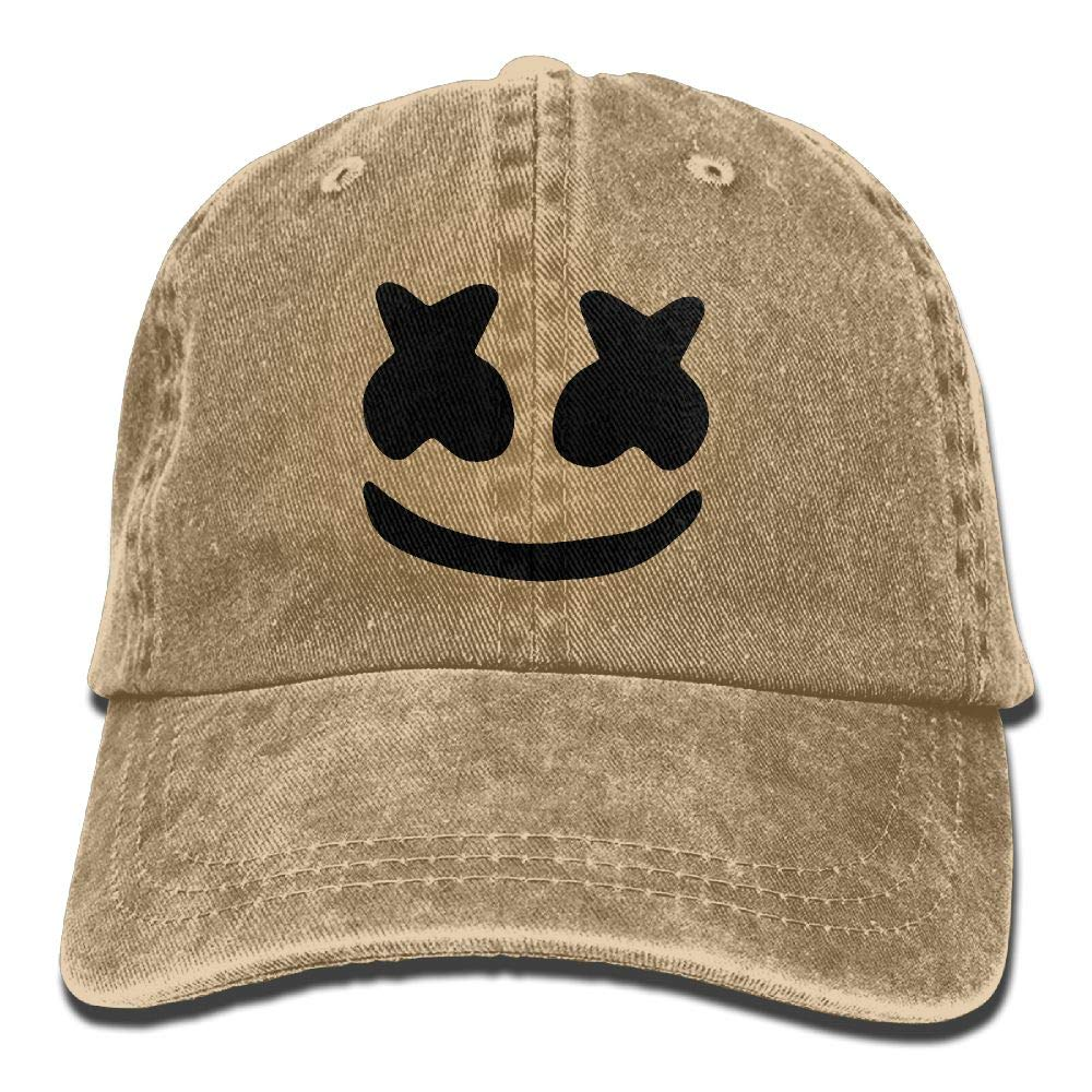 LETI LISW Cool Marshmello FaceWashedDad Hat Adult Unisex Adjustable Cap
