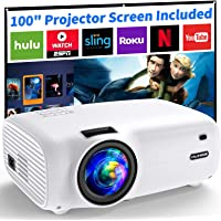 $99 » Mini Projector, 720P Native ViliNice 6500Lumens Portable Projector Full HD Video Projector, Home Movie Display 1080P…