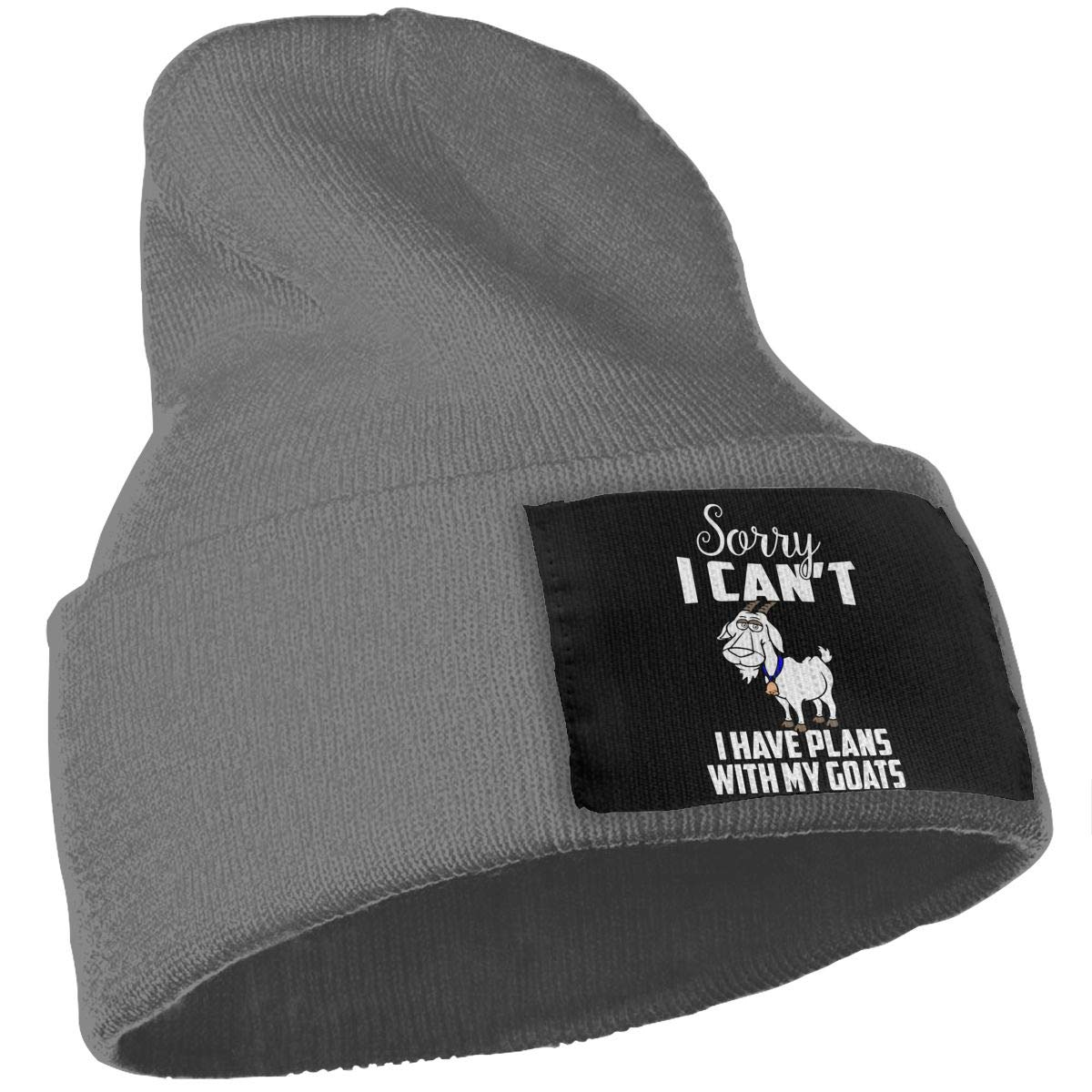 WHOO93@Y Unisex 100/% Acrylic Knit Hat Cap Goats Make Me Happy Fashion Ski Cap