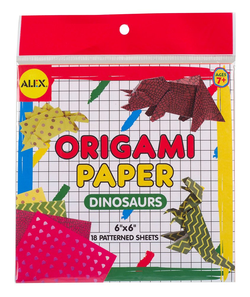 Alex Toys Origami Paper, 6-Inch by 6-Inch, 18/Pkg, Dinosaur Shapes 293