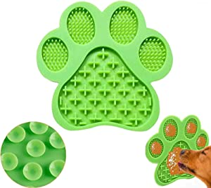 Dog Bath Lick Mat with Super Suction for Bathing GroomingTraining Prevent Dog Anxiety Pet Lick Pad Slow Feeder Perfect for Dog Cat Food Yogurt Peanut Butter