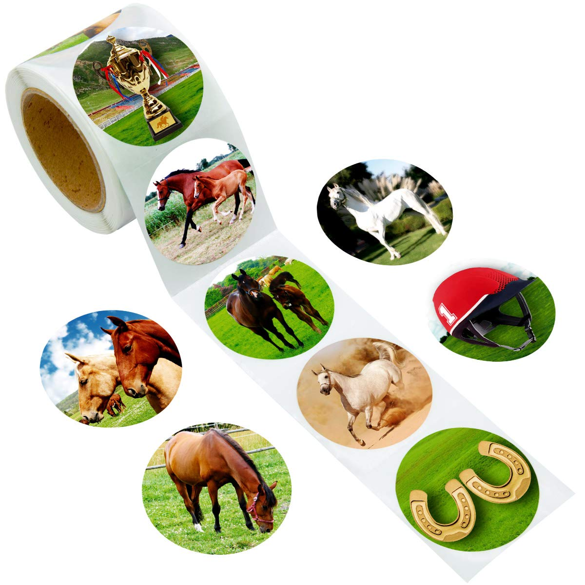 for Birthday Birthday 100pc 1 Piece Stickers Mare /& Foal Stickers Roll Fun Express Stationery Stickers