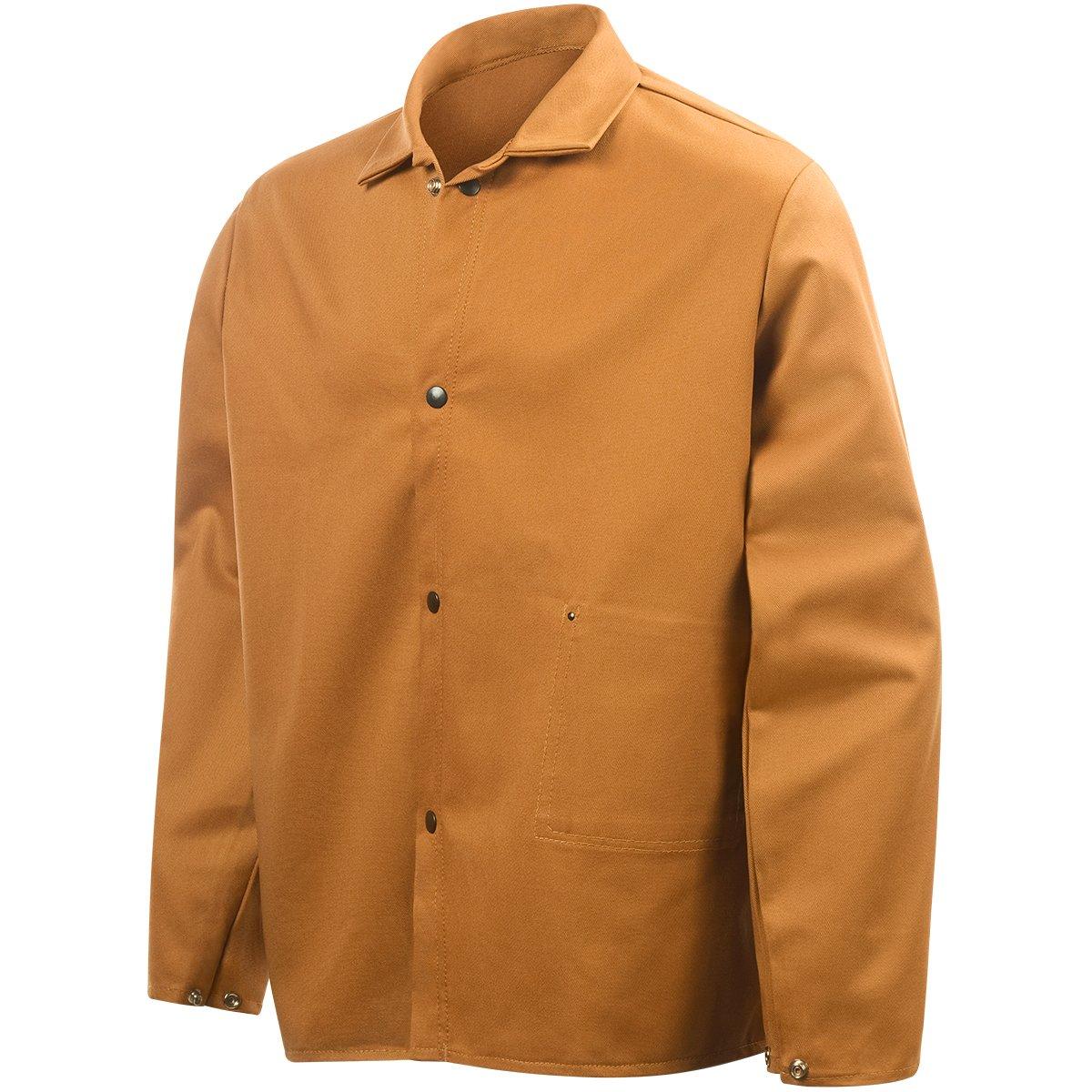 Weldmite 12-Ounce Bucktan Cotton Large 10102 Steiner 1010-L 30-Inch Jacket
