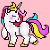 Unicorn Coloring by Numbers