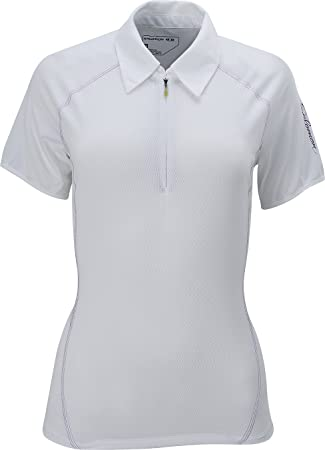 Salomon Moto de Las Mujeres Camiseta Polo, Mujer, Blanco: Amazon ...