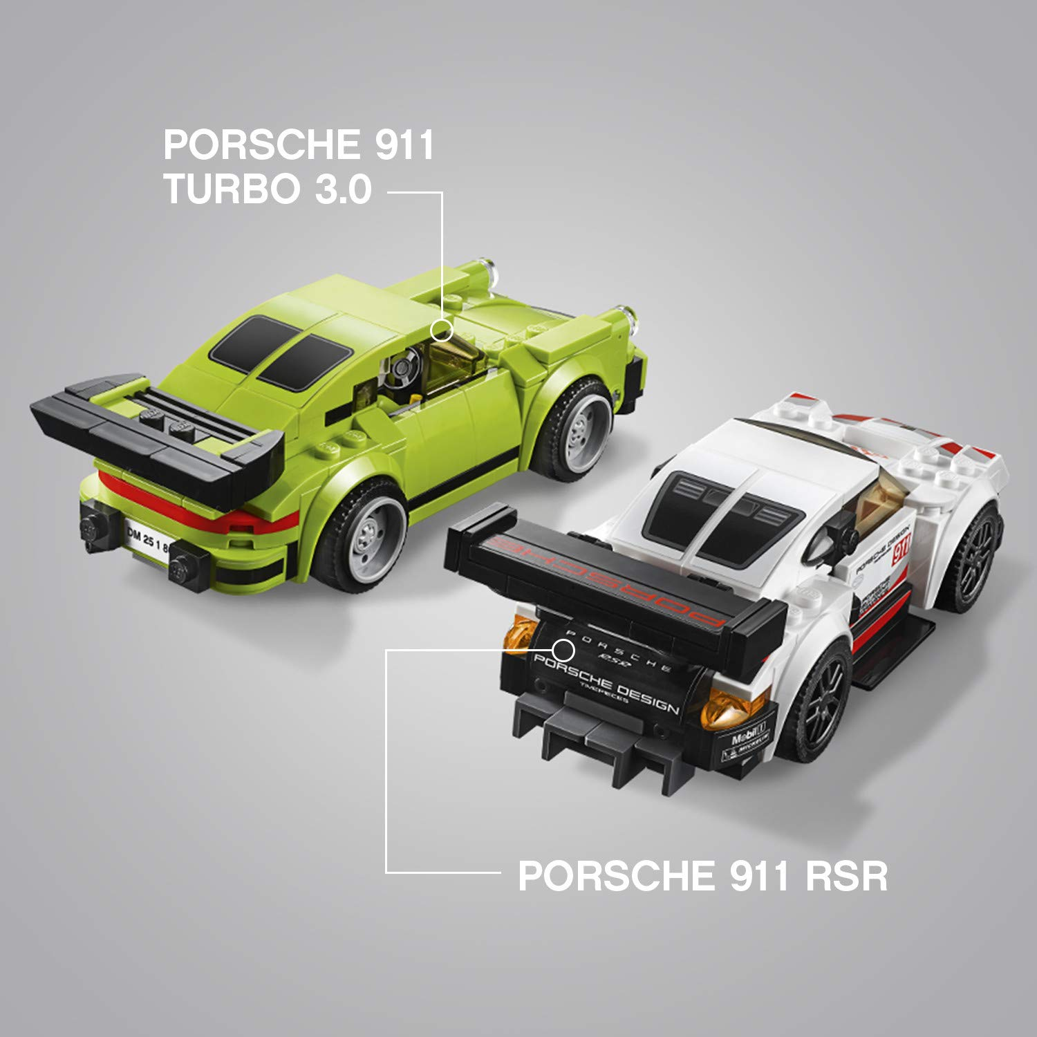 LEGO Speed Champions Porsche 911 RSR and 911 Turbo 3.0 75888 Building Kit (391 Piece) by LEGO (Image #7)