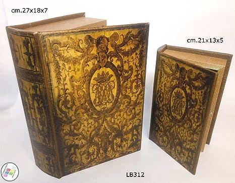 Coppia Finti Libri Per Libreria Nascondiglio Segreto Vintage Fake