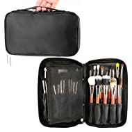 574966439cdf Professional Cosmetic Case Makeup Brush Organizer Makeup Artist Case with  Belt Strap Holder Multi functional Cosmetic