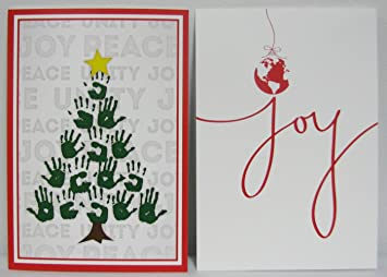 hallmark christmas boxed cards urs1085 4 designs peace hope and love christmas tree - Love Christmas Cards