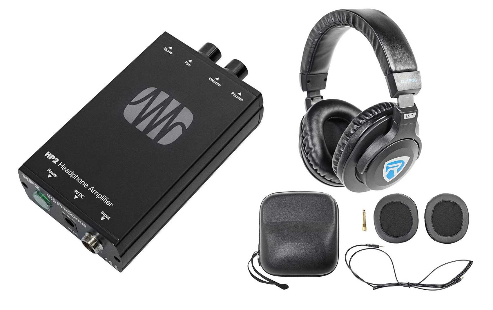 Presonus HP2 2 Channel Headphone Amplifier System HP-2+Free DJ Headphones by PreSonus