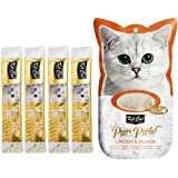 Kit-Cat Purr Puree Chicken & Salmon Wet Cat Treat Tubes 4x15g