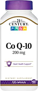 21st Century Co Q10 200 mg Capsules, 120 Count