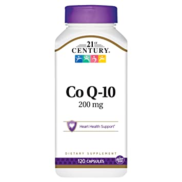 Amazon.com: 21st Century Co Q10 200 mg Capsules, 120 Count: Health ...