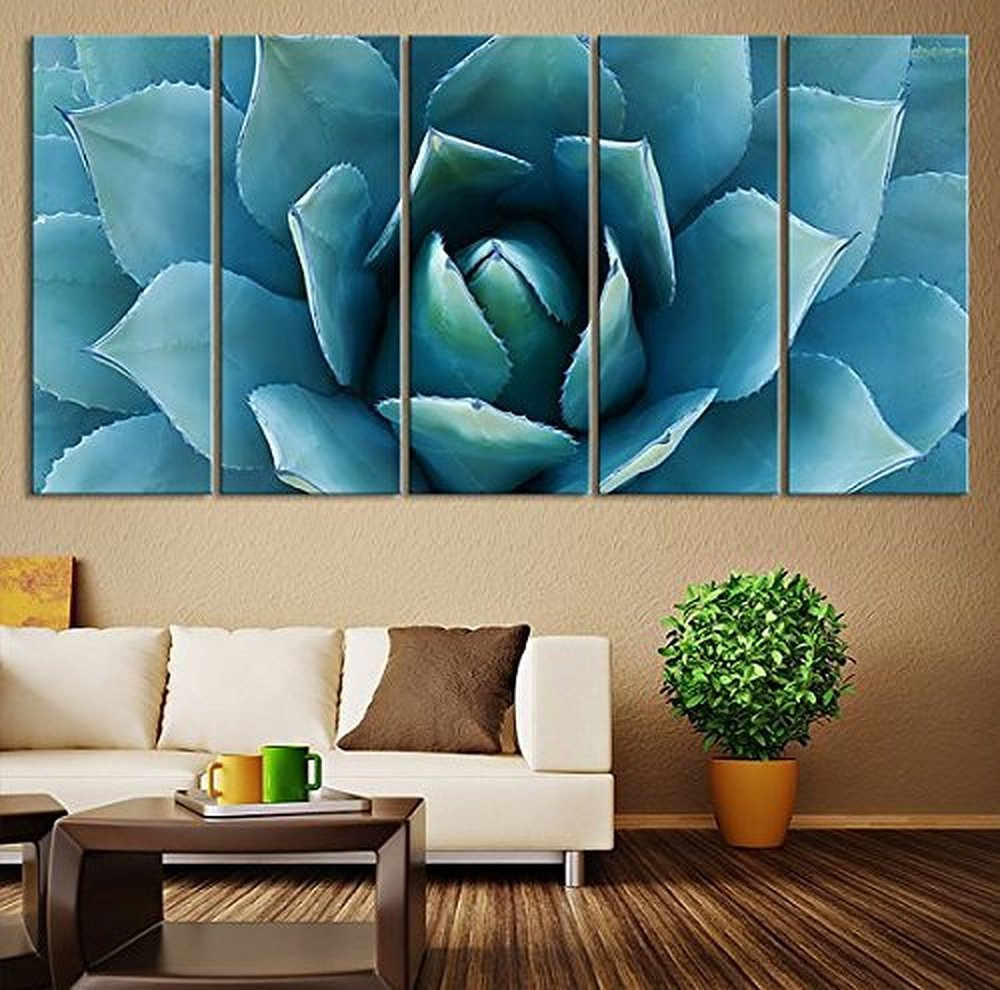 Amazon com ezon ch large wall art blue agave canvas prints agave flower large