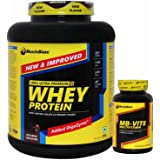 MuscleBlaze Whey Protein - 2 kg (Rich Milk Chocolate) with MB Vite - 60 Tablets