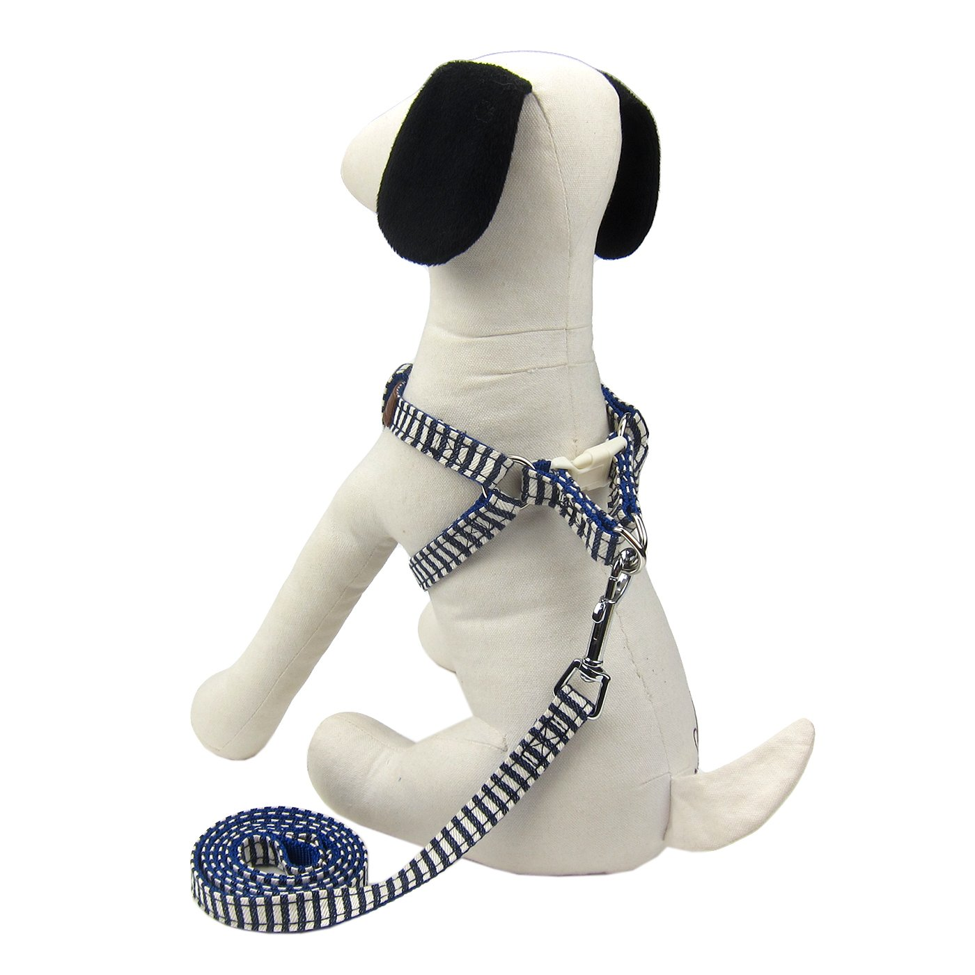 bluee Stripe Small bluee Stripe Small Alfie Pet Harvest Harness and Leash Set color  bluee Stripe, Size  Small