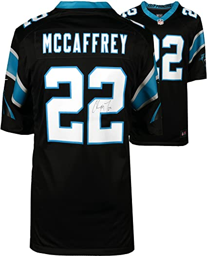 5f036d9c6a7 ... top quality christian mccaffrey carolina panthers autographed nike game  black jersey fanatics authentic certified 521dd 6c68f