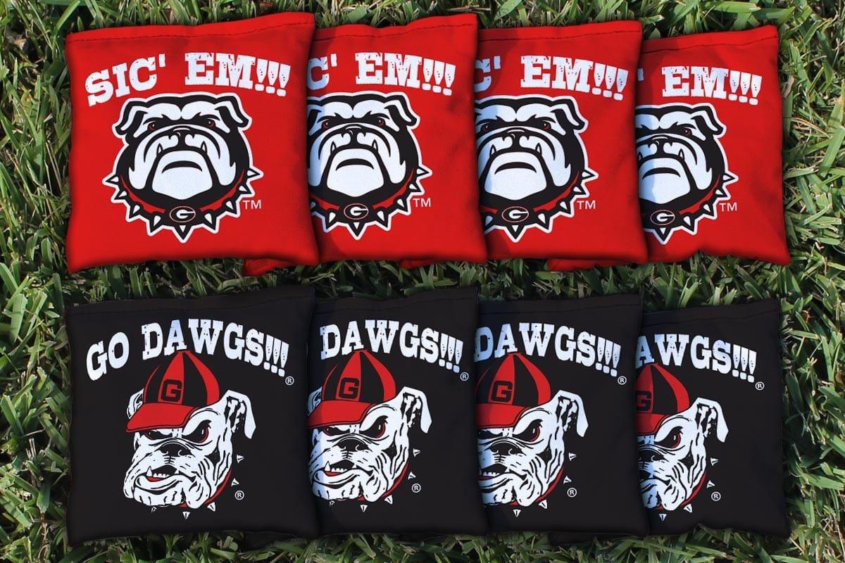 Georgia UGA Bulldogs Go Dawgs Sic Em Replacement Cornhole Bag Set (corn-filled)