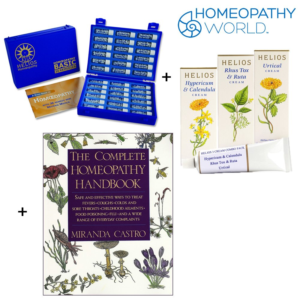 Homeopathic Deluxe Remedy Kit, 3 Creams and Handbook - Trio Pack by Homeopathy World